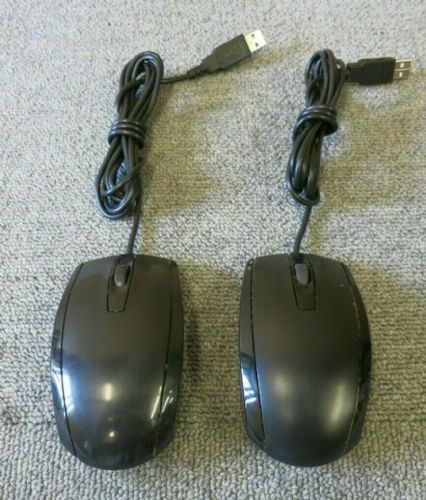 Job Lot 2 x HP MODGUO Black USB Wired 3 Button Optical Scroll Wheel Mouse